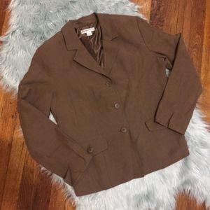 Pendleton Linen Silk Blazer Petite 10